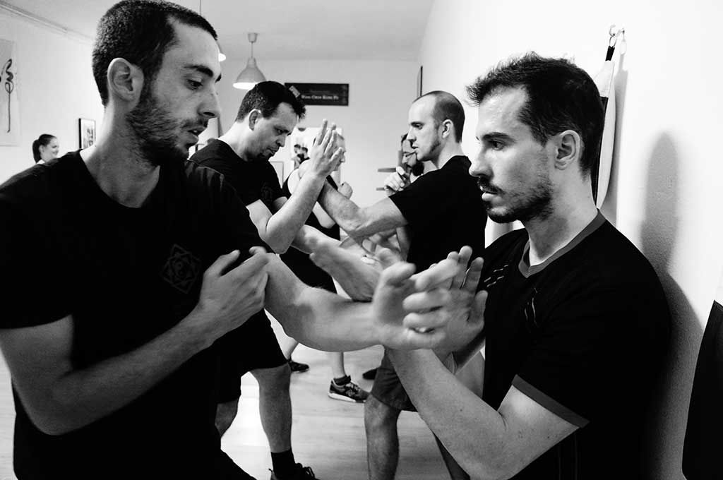 Kung Fu Class working on defence